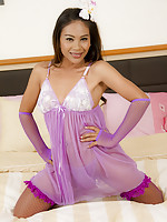 Jasmine has the biggest Ladyboy cock you will see in her baby doll